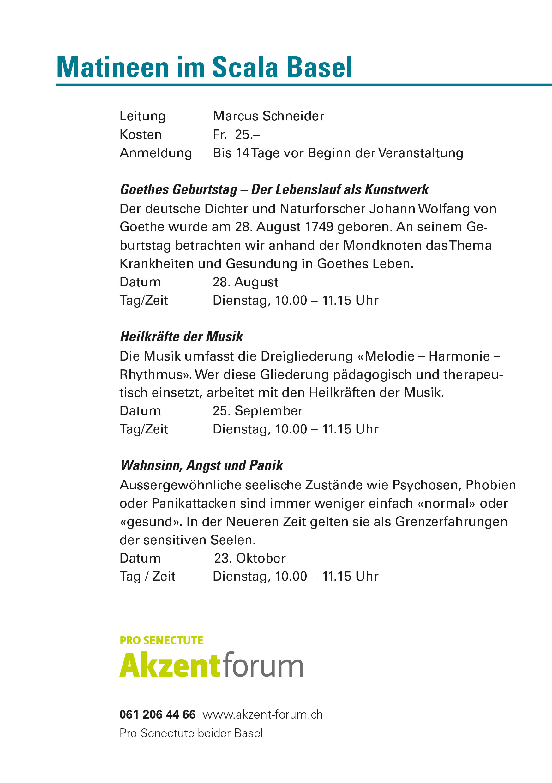 Scala Basel Veranstaltungen